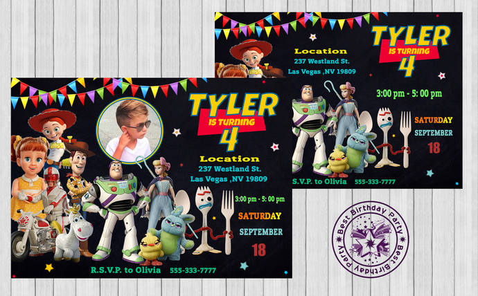 Toy Story 4 Birthday invitations - Toy Story Invitations - Toy Story Invitation