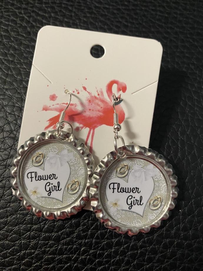 Flower girl earrings, handmade earrings