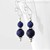 Lapis Lazuli Dangle Argentium Silver Earrings - High Quality Wire Wrapped Navy