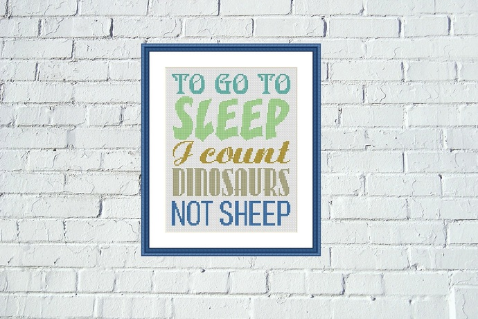 Funny nursery motivation quote cross stitch embroidery design