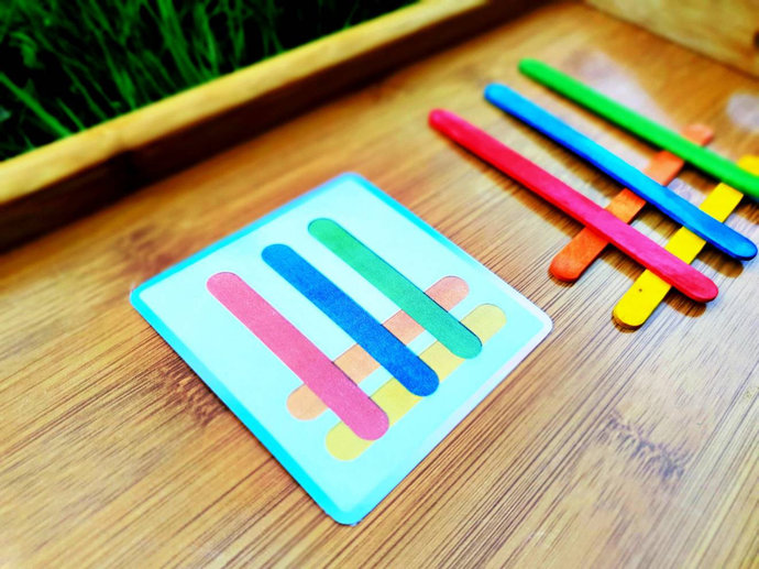 Popsicle patterns * Toddler activities * Matching game * Busy bag * Preschool *