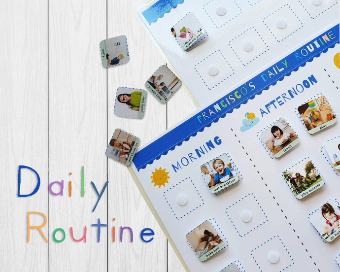 Personalised daily kids routine * Kids daily schedule * Daily visual schedule *