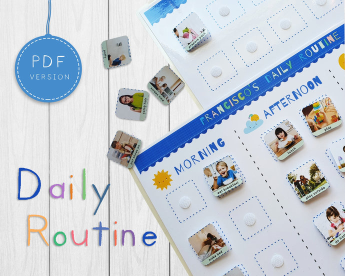 Printable daily kids routine * Kids daily schedule * Personalised toddler