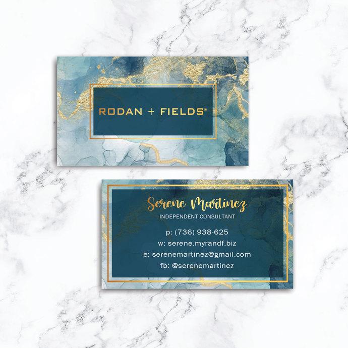 Watercolor Rodan & Fields Business Cards, Personalized Rodan & Fields Cards RF26