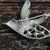 BIRD OF PARADISE Silver Aurora Borealis Rhinestone Pin Brooch
