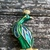 Vintage Green And Blue Peacock Brooch