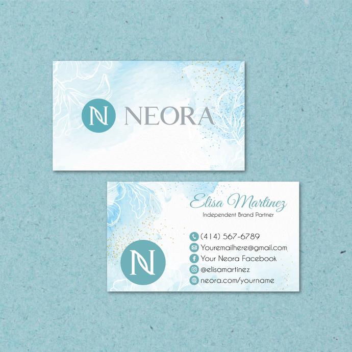 Neora Business Card, Personalized Neora Business Cards, Mandala Neora Card,