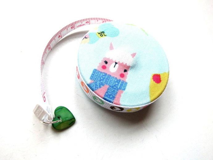 Measuring Tape Knitting Llamas Small Retractable Tape Measure