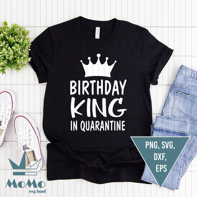Quarantine Birthday Svg, Birthday King in Quarantine Svg, Funny Svg, Boy Svg,