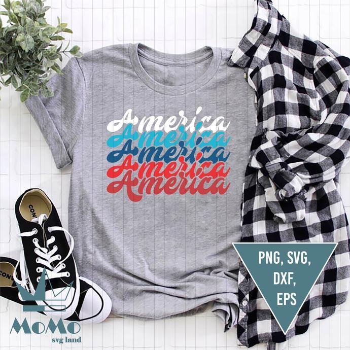 America Svg, Patriotic Svg, USA Svg, Fourth of July, Independence Svg, American