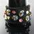 Bead loomed bee bracelet with flowers