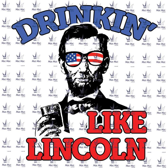 Drinkin' Like Lincoln Svg, Beer Svg, American Flag, Independence Day, 4th Of