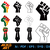 Fist vector | Fist dxf | eps | png | cricut cut file | separated svg