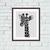 Black and white giraffe cute animals cartoon cross stitch pattern
