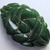 Chunky Green Bakelite Button with Carving