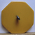 Butterscotch Colored Bakelite Button with Wood Inlay