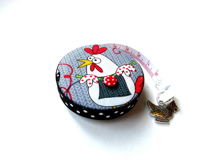 Tape Measure Chickens Knitting Retractable Small Measuring Tape
