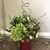 Azaleas housed in red mason jar