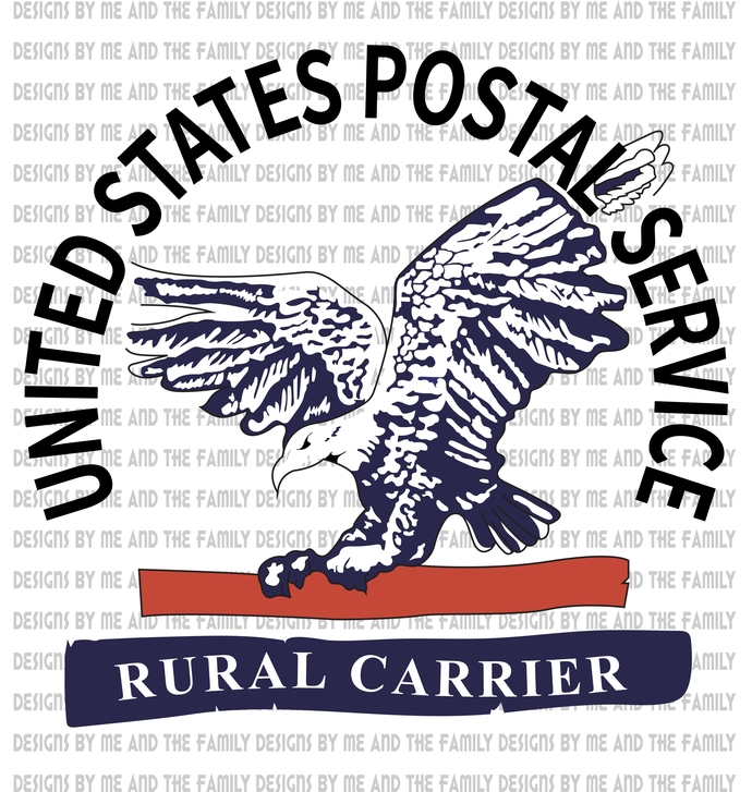 United States Postal Service Rural Carrier, Post Office, essential, Sublimation,