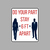 """Do Your Part Stay 6 feet Apart 8"""" wide x 10"""" tall - Washable - Self Adhesive -"""