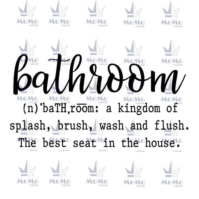 Bathroom Definition Svg, Silhouette Cameo, Instant Download, Digital Download,