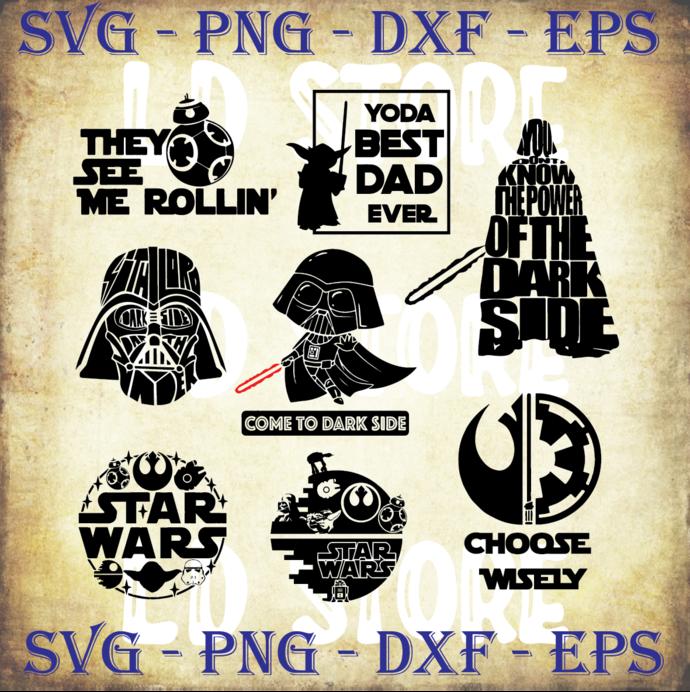 Star Wars Special Svg Bundle Baby Yoda Star By Ldstoresvg On Zibbet