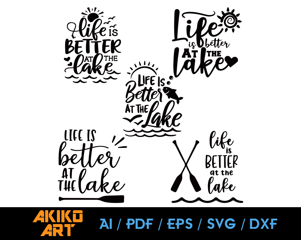 Life Is Better At The Lake Vector Lake By Akiko Art On Zibbet