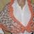 Mobius Shawl Hand Knit Peach & Tan