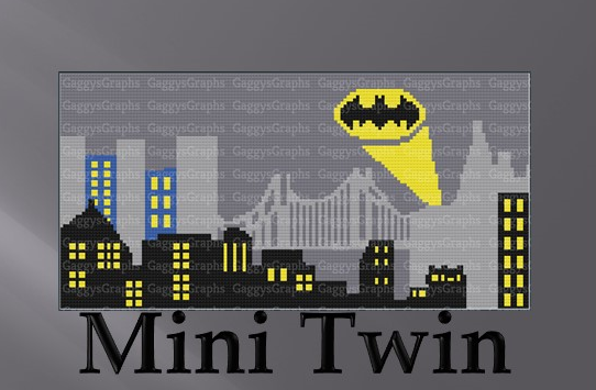 Gotham City Skyline MiniC2C Twin Size w/ graph+written line by line color coded