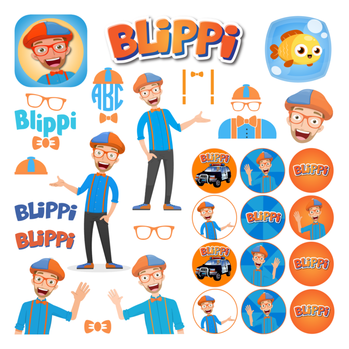 Cliparts: Fortnite, Blippi, Jojo Siva, Grinch, Hello Kitty, Stranger Things,