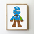 Game silhouette counted cross stitch pattern - Cross Stitch Pattern (Digital