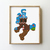 Set of 2 game of silhouette counted cross stitch pattern - Cross Stitch Pattern