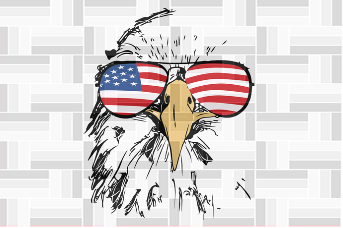 Eagle with sunglasses american flag, independence day svg, 4th of july,american
