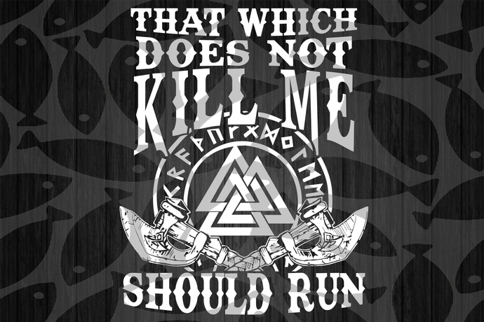 That which does not kill me should run, America 4th Of July Patriotic