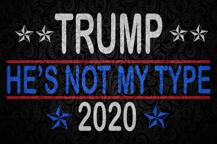 Trump he's not my type 2020, independence day svg, 4th of july,american flag