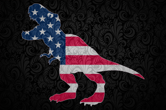 Dinosaur ameican flag, America 4th Of July Patriotic , 4th Of July Svg, Fourth