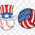 Baseball with uncle Sam hat american flag ,American Svg, 4th Of July Svg, Fourth