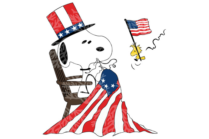 Snoopy dog independent american flag,American Svg, 4th Of July Svg, Fourth Of