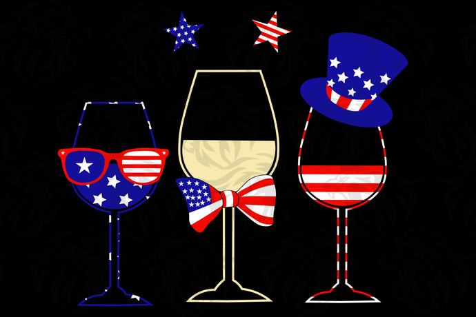 Wine american flag,American Svg, 4th Of July Svg, Fourth Of July Svg, Patriotic