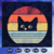 Cat retro svg, cat svg, cat svg, funny cat svg, cat cut files, cat lover svg,