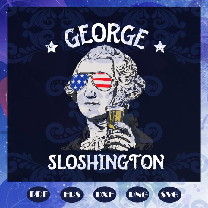 George Slothington Svg, George Slothington 4th Of July Patriotic Svg, American