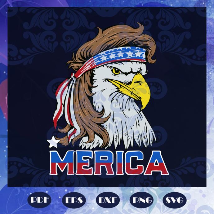 Bald eagle mullet 4th of july svg, fourth of july svg, patriotic american svg,