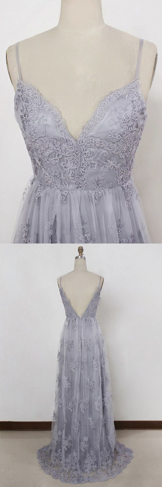 sexy v-neck evening gowns, cheap prom party dresses,lavender prom dresses M1791
