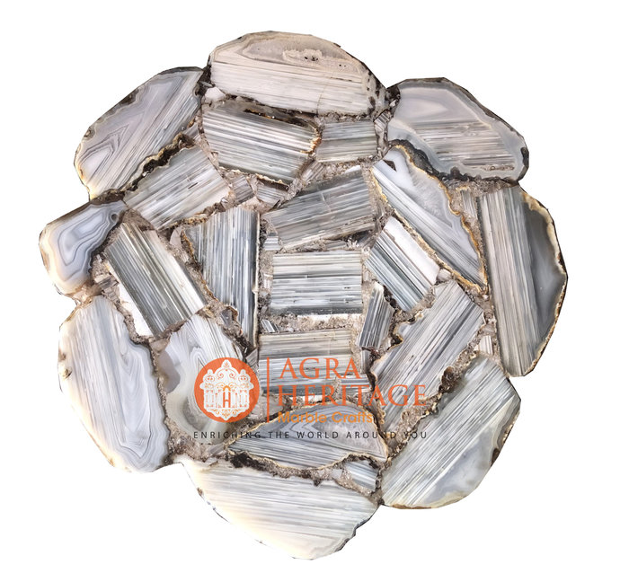 Buy Agate Top Coffee Custom Stone Table Interior Decorative Furniture for