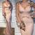 pink beaded evening dresses long sleeve mermaid embrodiery applique elegant