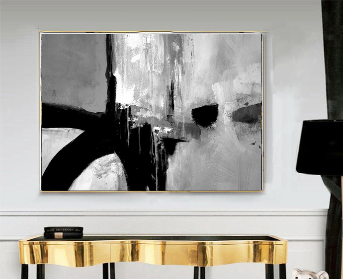 Abstract Art Print black white, Black gray white Abstract, digital downloads,