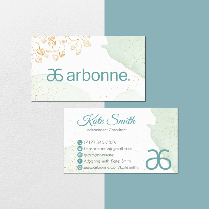 Watercolor Personalized Arbonne Business Cards, Watercolor Arbonne Business