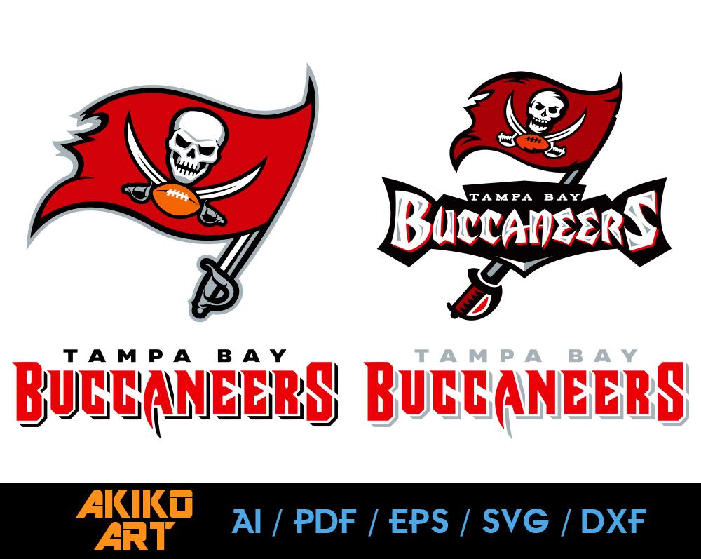Tampa Bay Buccaneers Vector Football Dxf Eps By Akiko Art On