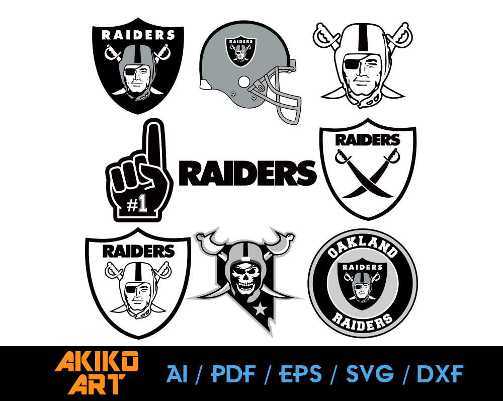 Oakland Raiders Vector Football Dxf Eps By Akiko Art On Zibbet