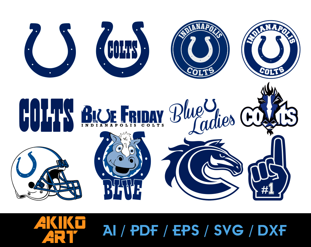 Indianapolis Colts Vector Football Dxf Eps By Akiko Art On Zibbet